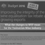 What the changes to WET mean for the Tasmanian Wine Industry